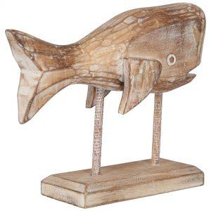 statueta stand lemn peste